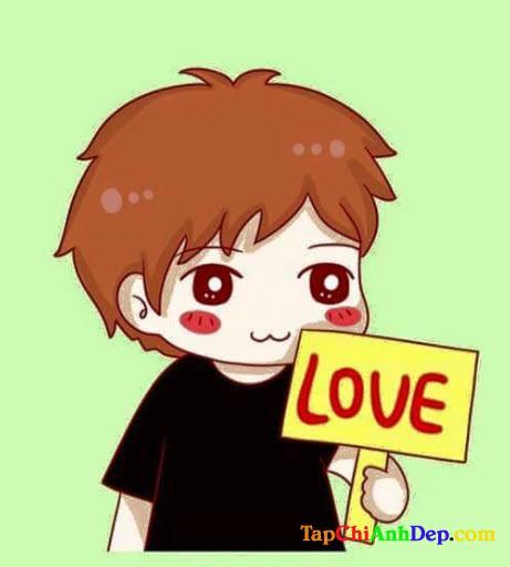 Hình ảnh Avatar dễ thương về tình yêu trên Facebook.