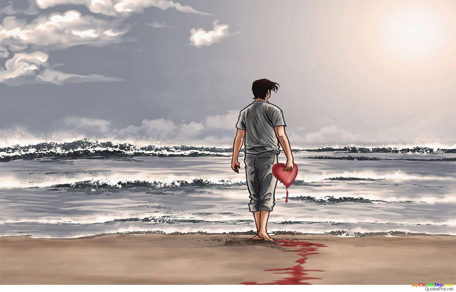 Những hình ảnh buồn nhất về tình yêu của con trai mang đầy tâm trạng