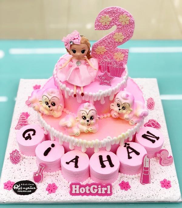 Những mẫu bánh sinh nhật dễ thương cho bé gái