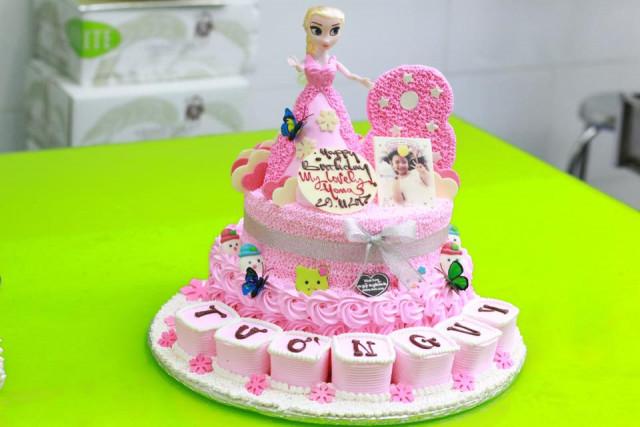 Những mẫu bánh sinh nhật dễ thương cho bé gái mẫu 10