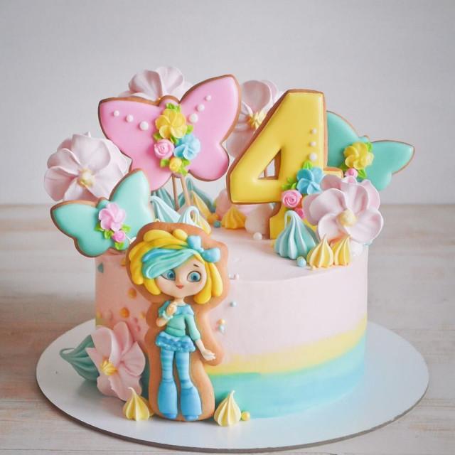 Những mẫu bánh sinh nhật dễ thương cho bé gái mẫu 11