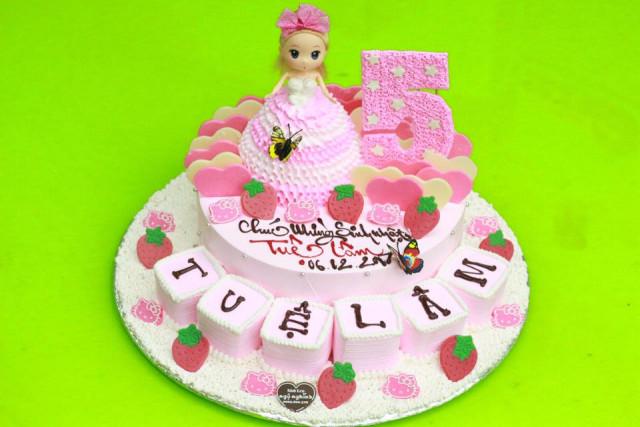 Những mẫu bánh sinh nhật dễ thương cho bé gái mẫu 4