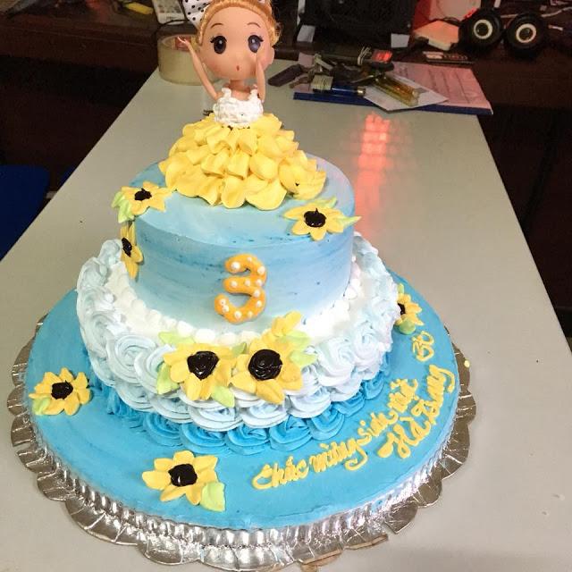 Những mẫu bánh sinh nhật dễ thương cho bé gái mẫu 6