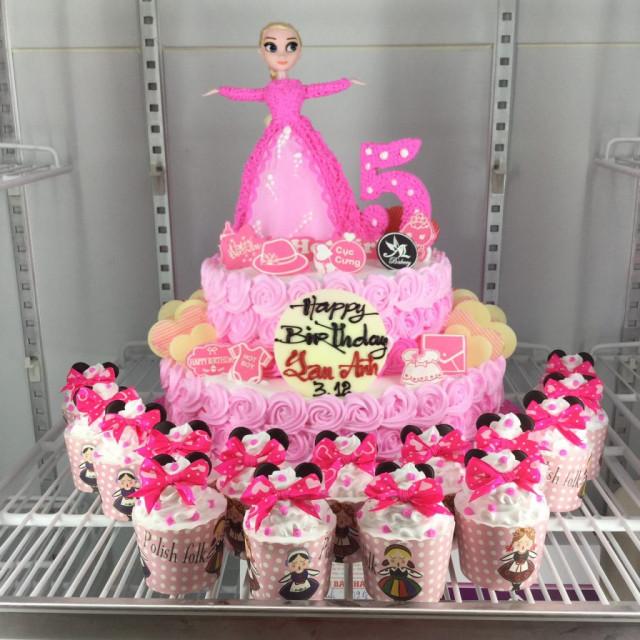 Những mẫu bánh sinh nhật dễ thương cho bé gái mẫu 7