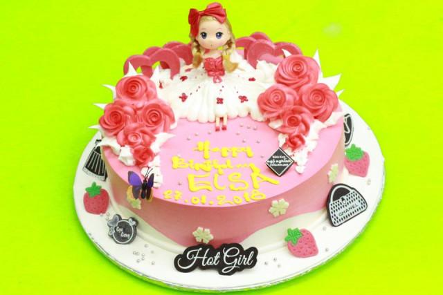 Những mẫu bánh sinh nhật dễ thương cho bé gái mẫu 8