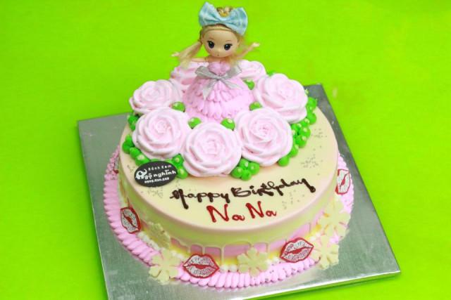 Những mẫu bánh sinh nhật dễ thương cho bé gái mẫu 9