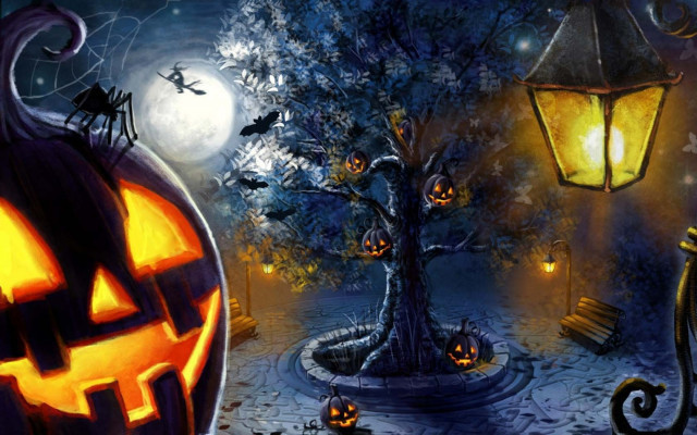 Bộ sưu tập hình nền Halloween độc đáo cho máy tính