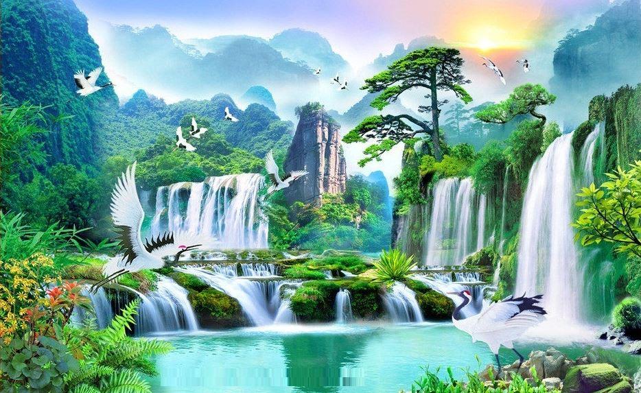 Tranh phong cảnh 3D - Tranh 3D treo tường đẹp