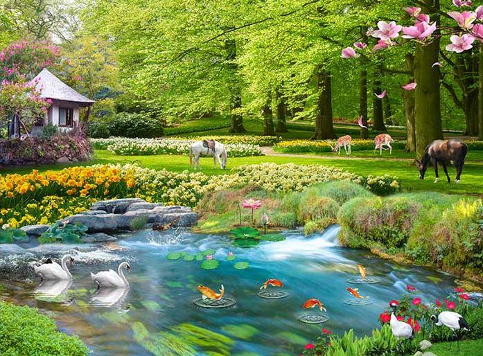 Tranh phong cảnh 3D - Tranh 3D thiên nhiên treo tường đẹp